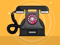 Vintage dialer Telephone