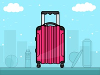 Travel Case - day 13/31 -daily illustration Challenge