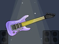 Guitar Music - Day 15/31 - Daily Illustration Challenge
