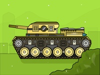 Army Tank - Day 17/31 - Daily Illustration Challenge