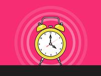 Day 19/31 - Alarm Clock - Daily Illustration Challenge