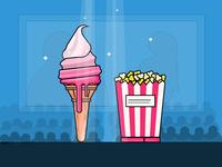 ice cream and popcorn - day 20/31
