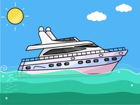Luxury Yacht - Day 21/31 Daily Illustrations Challenge