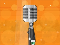 Stage Microphone - Day 25/31 - Daily illustration challenge