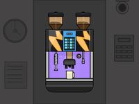 Coffee Vending Machine - Dat 26/31 Daily Illustration
