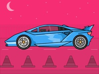 Sports Car - Day 27/31 -Daily illustration challenge