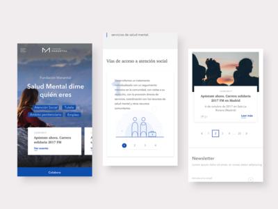 Fundacion Manantial UI Design
