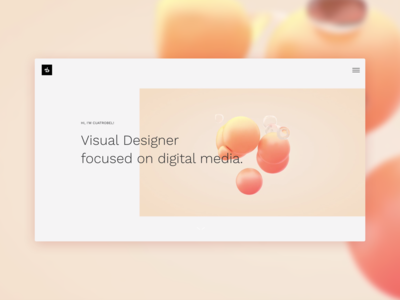 UI Design for my personal portfolio