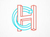 3D CH logo