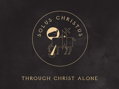 Solus Christus - 5 Solas of the Protestant Reformation line art lamb of god 5 solas reformation protestant solus christus christianity christian christ iconography illustration lamb bible