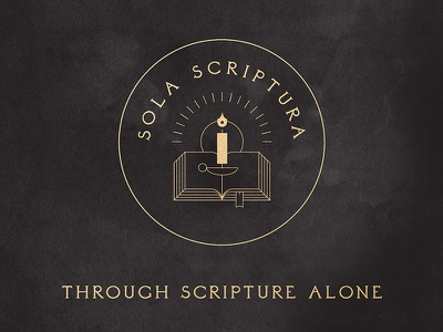 Sola Scriptura – 5 Solas of the Protestant Reformation bible verse scripture light candle biblical lamp 5 solas reformation protestant solus christus christianity christian christ iconography illustration bible