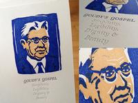 Letterpress Goudy Postcard