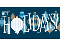 Lettered Holiday Card
