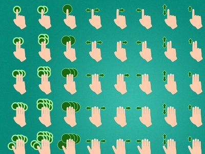 Some gesture icons for an iPad app ipad app icons gesture
