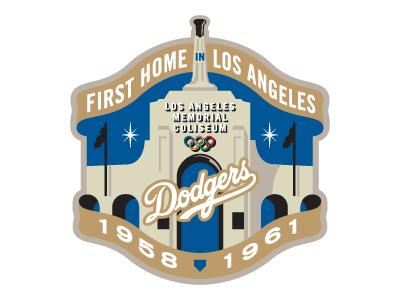 Los Angeles Dodgers Coliseum Game Logo