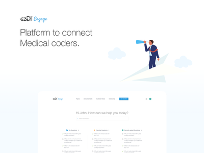 ezDI Engage community uiux medical coders healthcare forum