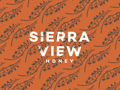 Sierra View Honey - Pattern Exploration branding illustration bleeding hearts rust nevada reno honey floral