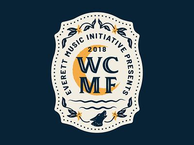 🌙🐺 Wild Coyote Music Festival music festival washington coyote folk country western moon badge