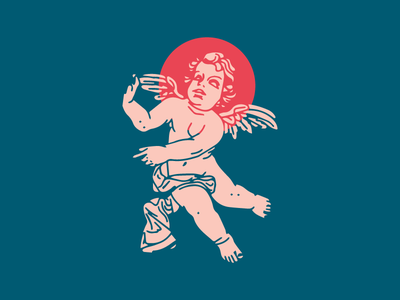 💘 Compassion is Key 👼 cocktails statue illustration cherub