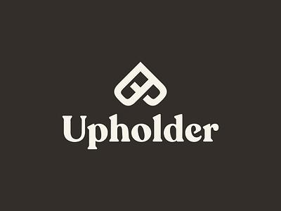 Upholder Brand Identity nevada brooklyn identity blockchain logotype logo branding blood orange pattern icon
