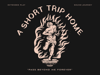 Pass Beyond Me Forever man fire running nyc nevada flames reno typography identity brooklyn illustration linework
