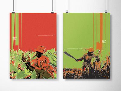 Cosecha; A study of Cuban poster art character illustration contrast spanish bright design poster cuban cuba