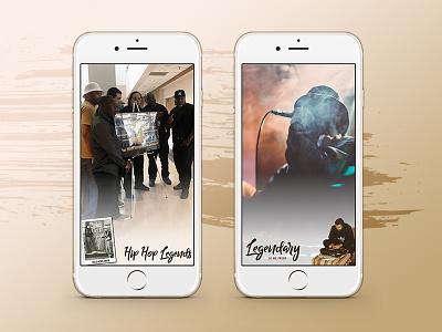 Hip Hop Legends geofilters mobile design hip hop music rap filter snapchat iphone geofilter