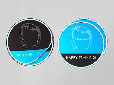 NeuroPlus stickers identity branding neuroplus line headset gaming sticker