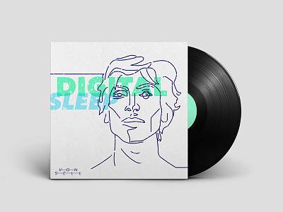 DigitalSleep single cover — Von Sell von sell minimal sleep digital line art cover design ep music