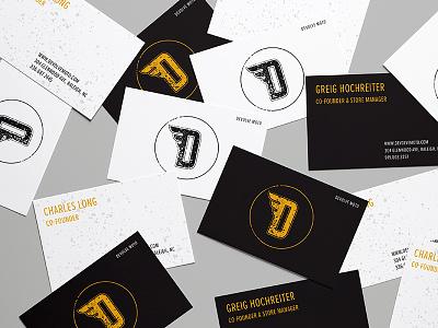 Devolve Moto business cards black gold moto raleigh design print cards business branding