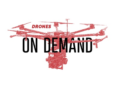 Drones on Demand campaign concept uav concept typography red design texture screenprint drone