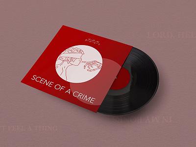 Scene of a Crime cover art — Von Sell line red minimal vinyl record music design cover art