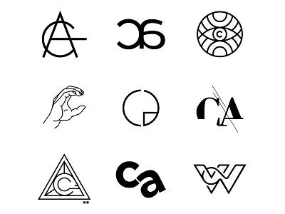 Personal branding logo play minimal black branding design graphic design personal brand letter c identity logo design branding logo