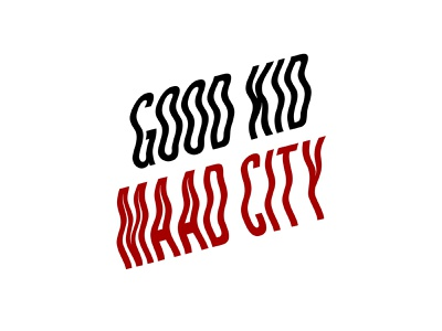 good kid, m.A.A.d city red and black branding font wavy rap music kendrick lamar maad city good kid lettering text exploration