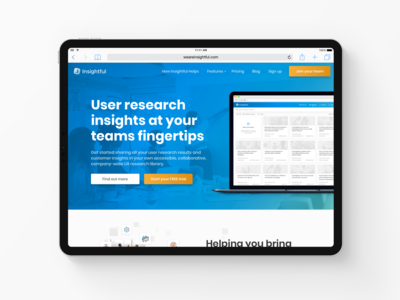 Insightful Homepage - User Research & Insight Library