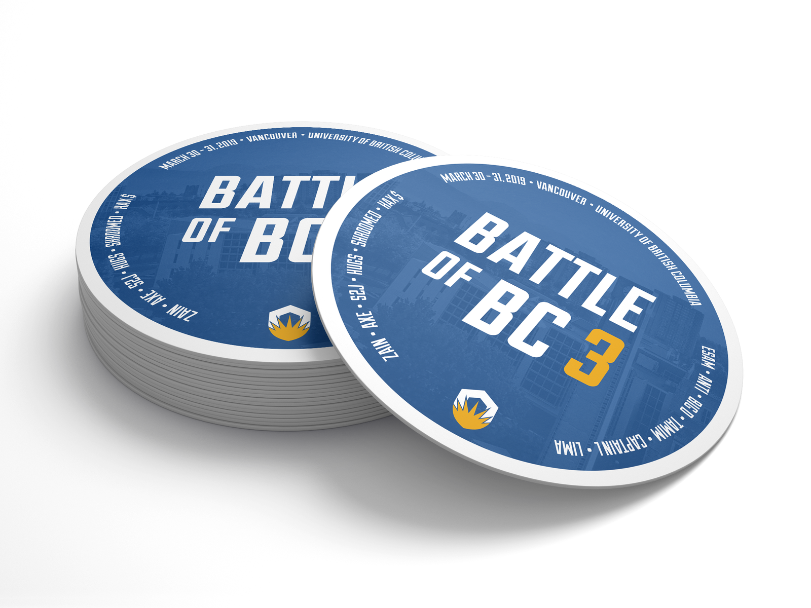 Battle Of Bc 3 Coasters By Paul Boici On Dribbble