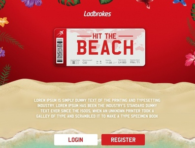 Ladbrokes hit the beach