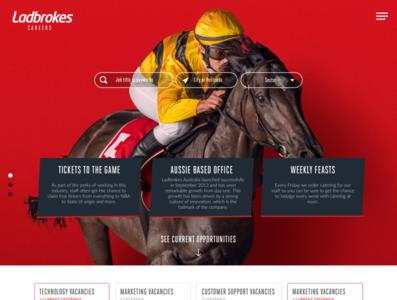 Ladbrokes Careers site UI