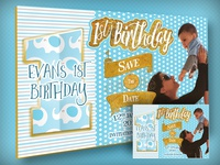 A5 First Bday Invitation