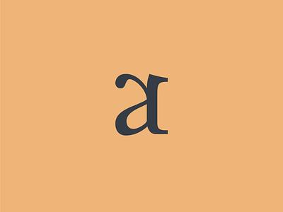 AR Monogram identity branding serif typogaphy monogram logo
