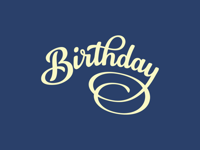 Birthday Lettering card lettering hand-drawn