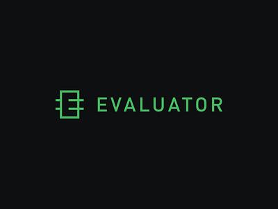 Evaluator Logo modern typography sans-serif logo identity branding