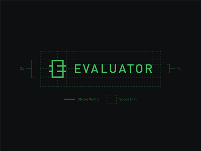 Evaluator Logo Construction construction logo identity branding