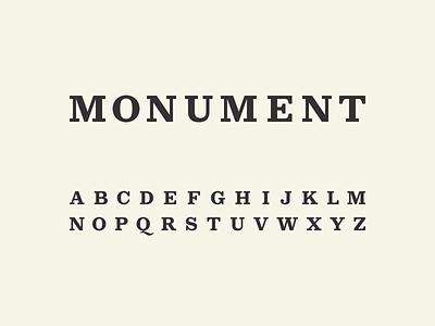 Monument Typeface design type typeface display slab-serif slab serif slab font typography