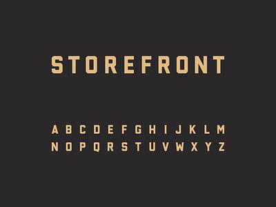 Storefront Typeface sans sans-serif sans serif font typeface type design
