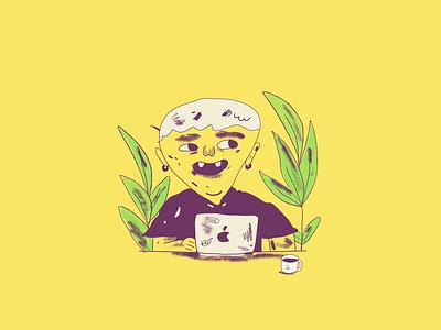 Illustration - Good Gorilla member plants ui developer code illustration