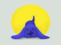Midday procrastination- Blueberry dog