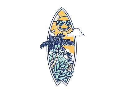 Surfboard iz merch design tshirt design summer vibes adobe illustrator beach surfboard summer