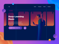 Deep Learning Music Landing page