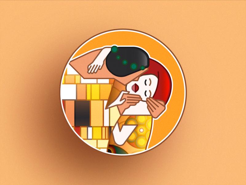 Badge - Der Kuss art icon vector colors design badge branding